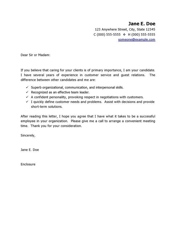 should a resume have a cover letter cover letter for customer - how to write a short cover letter