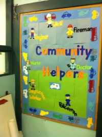 Community helper board | ECE Ideas/ Craft Ideas ...