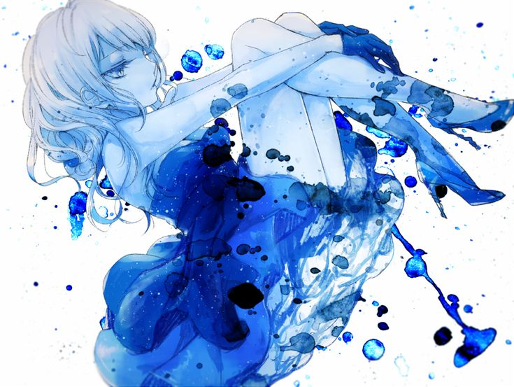 Girl Falling Through The Air Wallpaper Anime Girl Made Of Water Anime Original Amp Other Stuff