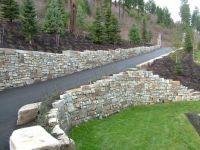 driveway retaining wall   Driveway Landscaping Retaining ...