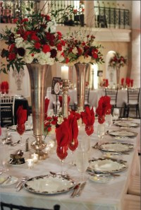 306 best images about Red, White, And Black Table Settings ...