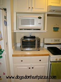 over the counter microwave shelf - get rid of the above ...