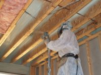 Closed cell spray foam insulation used as an air barrier ...