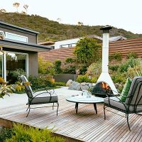 25+ best ideas about Modern Outdoor Fireplace on Pinterest