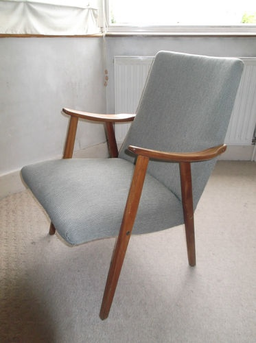 Lounge Sessel Danish Classic Chair Wooden Arms And Legs 50's 60's Design Eames