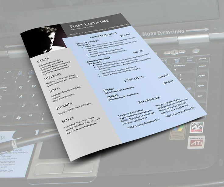 free resume template words