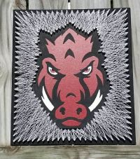 $64.99 Arkansas Razorback Logo String Art. Game Day Wall ...
