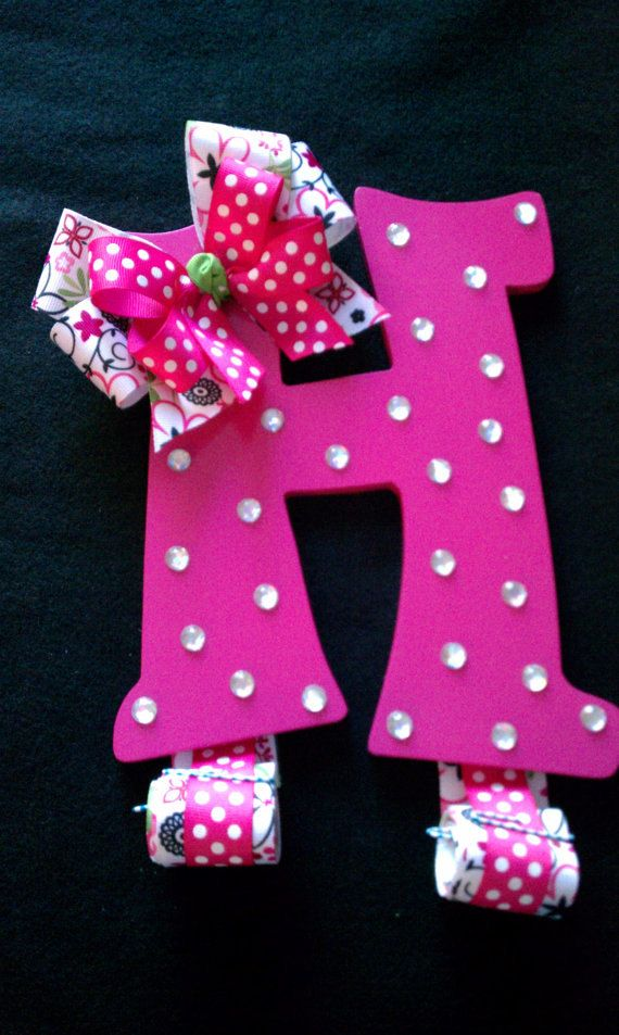 78 Images About Hair Bow Holder On Pinterest Initials