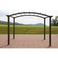 Outdoor Pergola Steel 8 x 10 Patio Gazebo Garden Canopy ...
