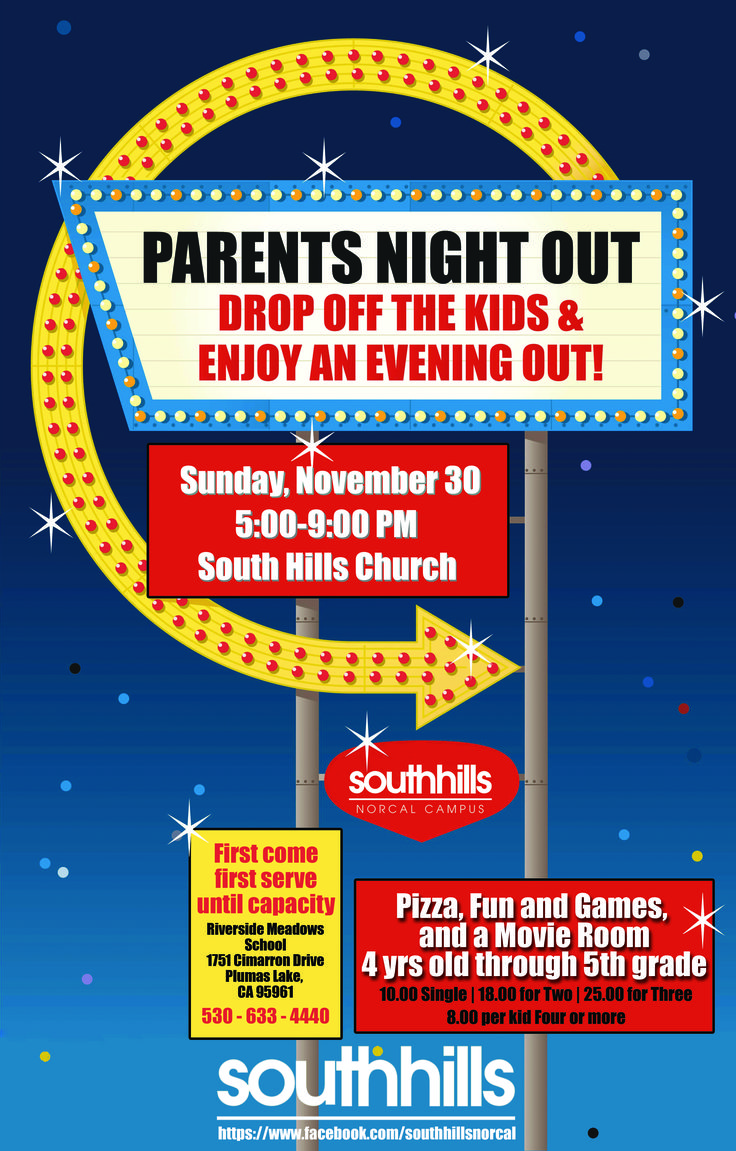 parent night out flyer template
