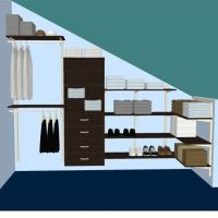 Top 25 ideas about Slanted Ceiling Closet on Pinterest ...