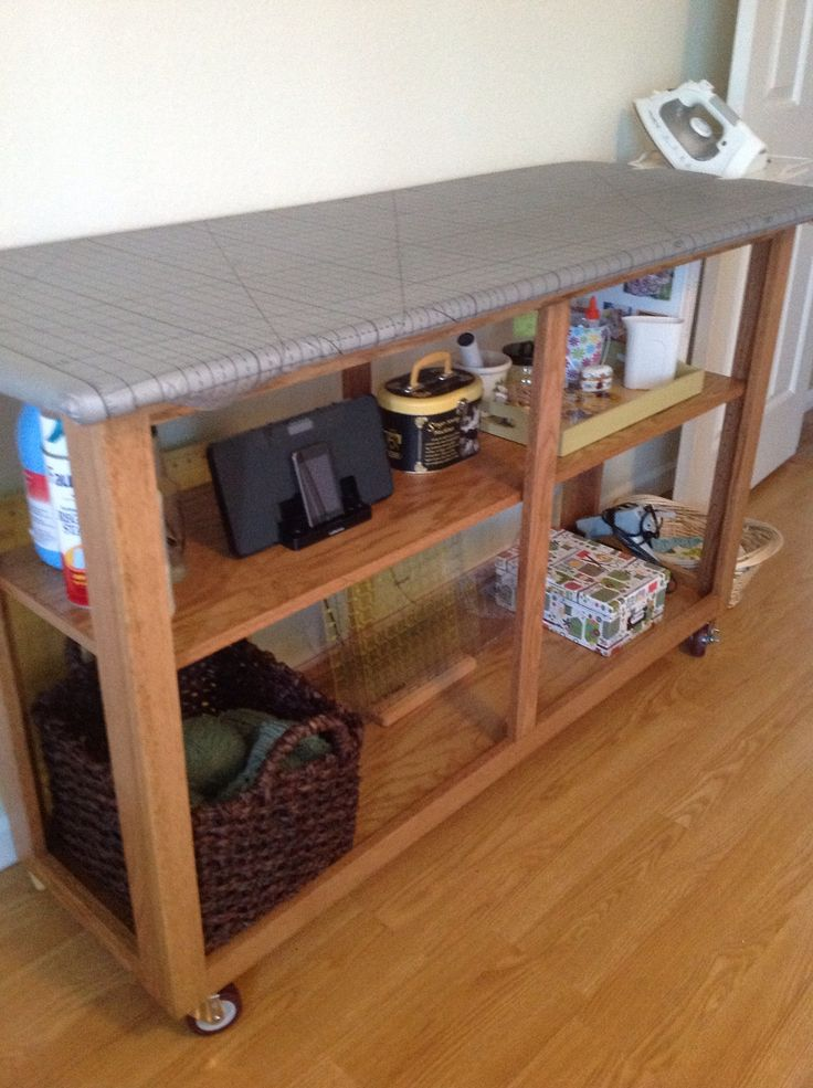Diy Sewing Room All In One Cutting Table Ironing Board