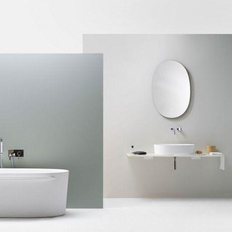 ex t badezimmer, wandmontierter spiegel \/ originelles design ... - Aluminium Regal Mit Praktischem Design Lake Walls