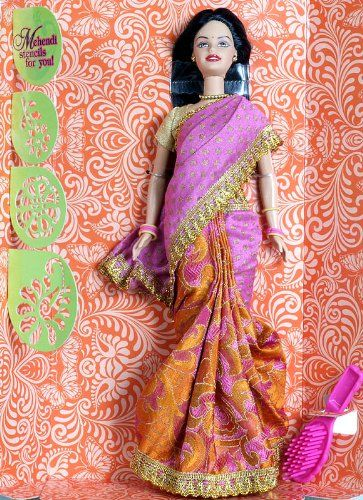 Fashion Cartoon Girl Wallpaper Indian Barbie Doll In Saree Indian Barbie N Kelly