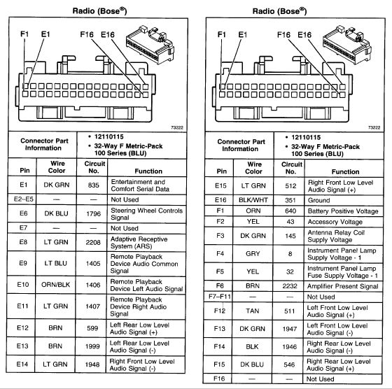 buick car radio stereo audio wiring diagram autoradio