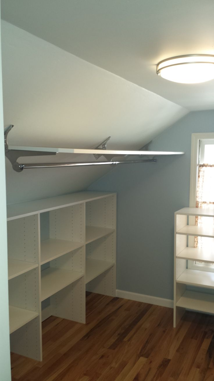 Best 20+ Slanted ceiling closet ideas on Pinterest