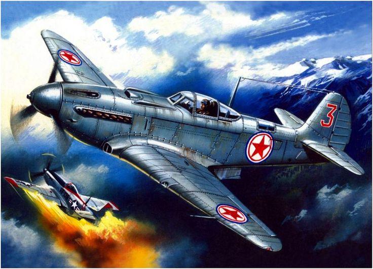 Commercial Pilot Wallpaper Hd Yak 9 Vs Us Mustang Over Korea Korean War Pinterest
