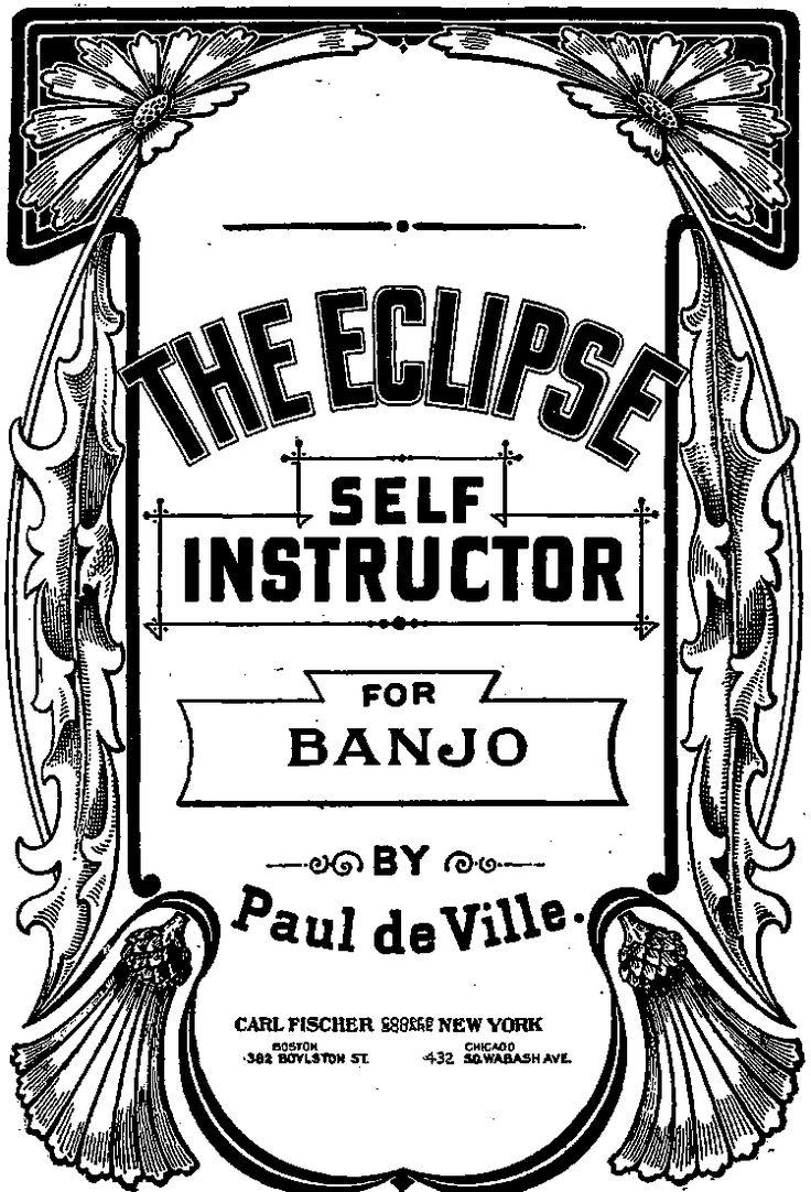 banjo selfinstructoin manual for 5 string banjo p0012