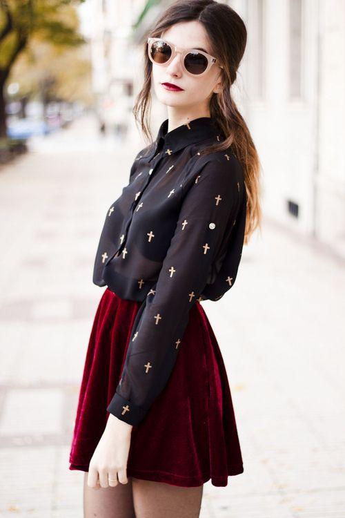 Red velvet skirt dress to impress pinterest velvet
