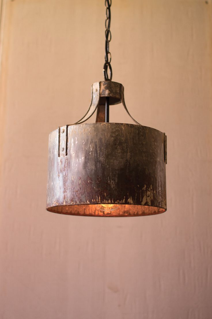 rustic lighting rustic pendant lighting kitchen Metal Cylinder Pendant Light