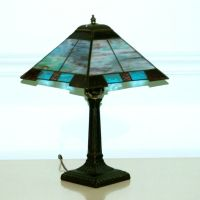 Commissioned Prairie style stained glass lamp. | Stained ...