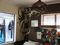 DIY wall mural in the bedroom | RufusInk_Studios ...