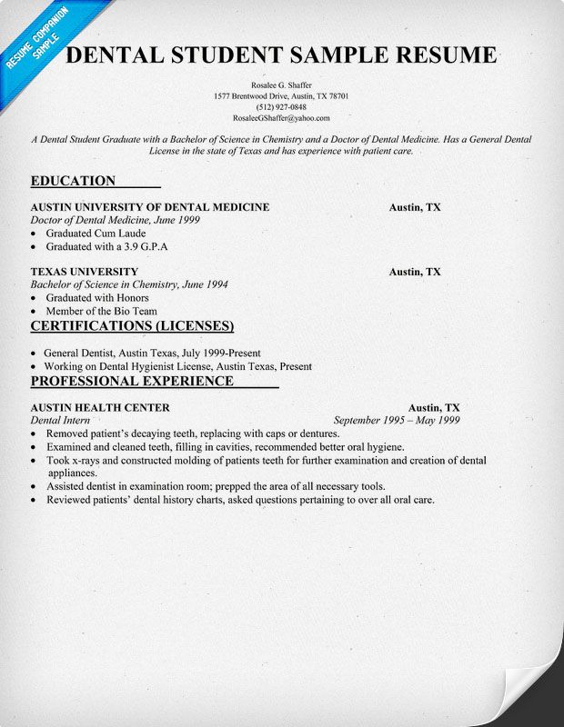 dental doctor cover letter