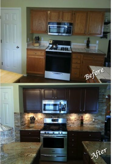 "Kitchen Cabinet Drawers Kitchen Updating: Painted Sherwin Williams ""fiery Brown"