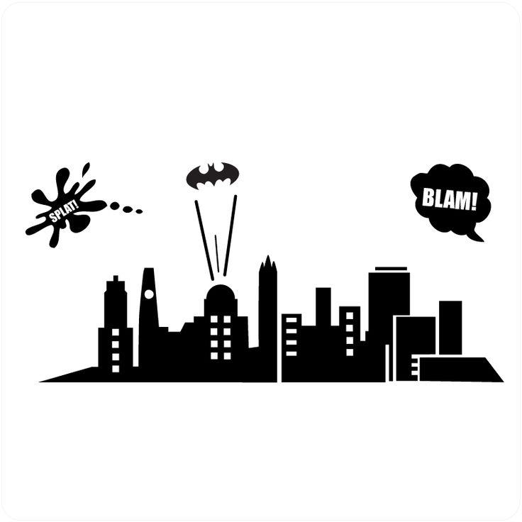 Batman Why Do We Fall Wallpaper Batman Gotham City Skyline Skyline Pinterest The O