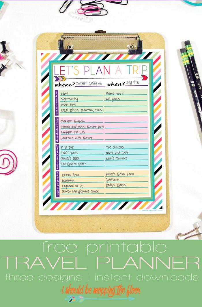 vacation planning worksheet