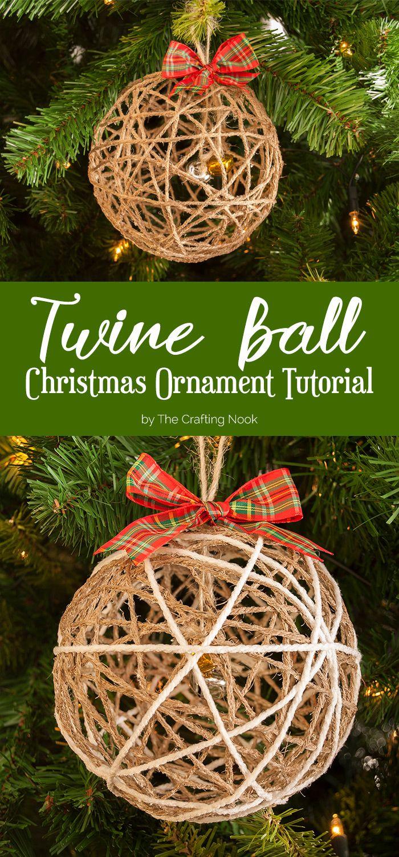 Twine ball christmas ornament tutorial