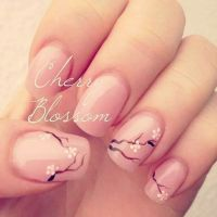 Cherry blossom nail art | Moms nail ideas | Pinterest ...