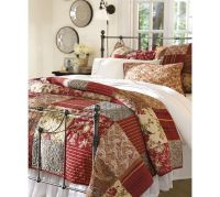 Georgia Patchwork Quilt & Sham - Red | Pottery Barn ...