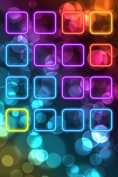 Neon iPhone 4 icon frame wallpaper | BaCkGrouNd's & WaLLpaPer | Pinterest | Beautiful, iPhone ...