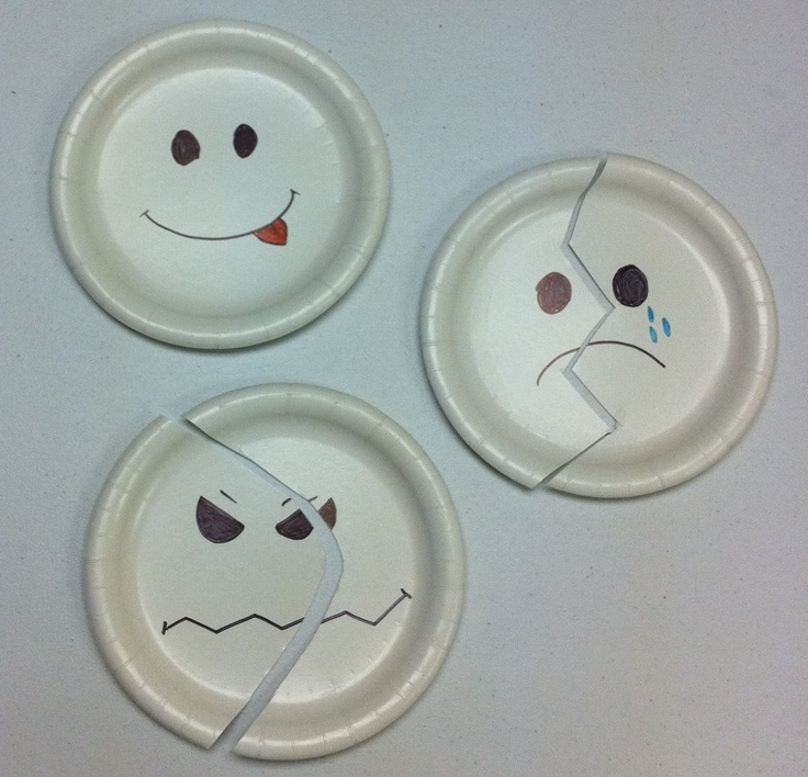 Feelings Puzzles Made From Paper Plates Emotions