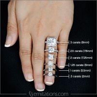 Rian's 5 Carat Princess Cut Engagement Ring | Wedding ring ...