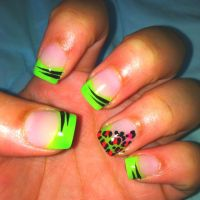 French tip nails with design!   Beauty is in the eye of ...