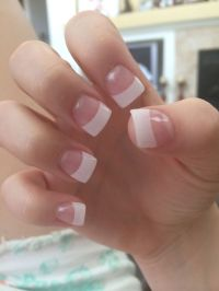 Best 25+ French tip acrylics ideas on Pinterest