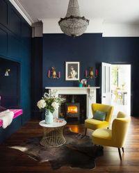Dark Blue Living Room Walls