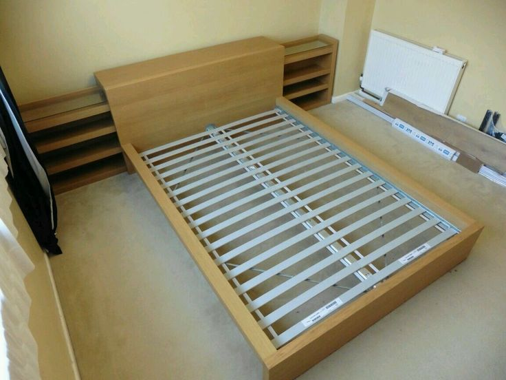 Ikea Laiva Ikea Malm Double Bed Frame & Optional Extra Storage