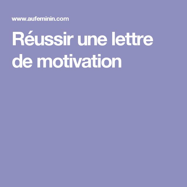 cv ou lettre de motivation originale