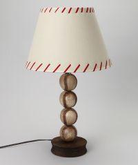 White Stacked Baseball Lamp | Baseball Lamp, Baseball and ...