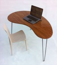 Mid Century Modern Desk - Kidney Bean Shaped - Atomic Era ...