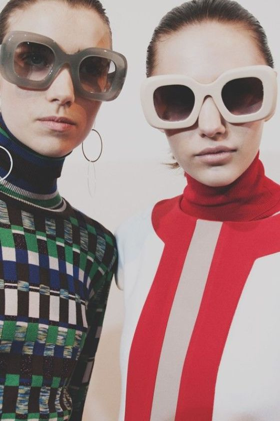 60s sunglasses and colour blocking backstage at Jonathan Saunders AW15 LFW. See more here: http://www.dazeddigital.com/fashion/article/23760/1/jonathan-saunders-aw15: 60s sunglasses and colour blocking backstage at Jonathan Saunders AW15 LFW. See more here: http://www.dazeddigital.com/fashion/article/23760/1/jonathan-saunders-aw15