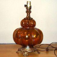 Vintage Falkestein Hollywood Regency Carnival Glass ...