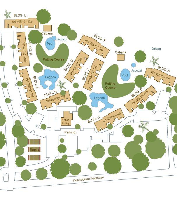 papakea resort map