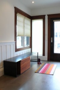 3. Wainscot. While the space between the chair rail and ...