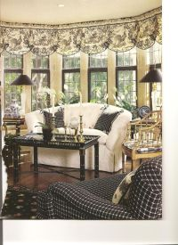 Very pretty sophisticated sunroom in black and white. I ...
