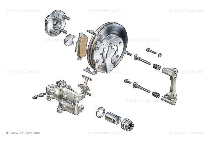 disc brake diagram for pinterest