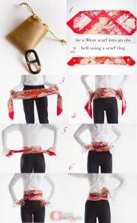 25+ best ideas about Scarf belt on Pinterest   Silk ...